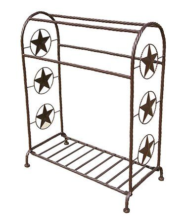 This Star Wrought Iron Saddle Quilt Rack Is Perfect Zulilyfinds