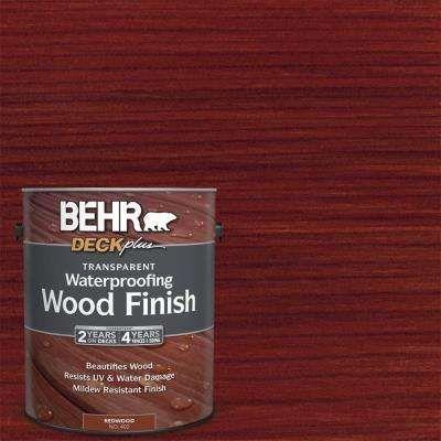 Behr Deckplus 1 Gal Redwood Transparent Waterproofing Exterior Wood Finish 40201 The Home Depot Exterior Wood Exterior Wood Stain Wood Finish