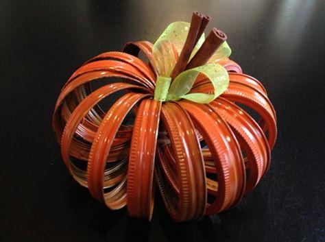 Mason Jar Lid Pumpkin Diy Craft Tutorial