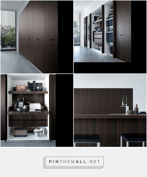 Moderne Keuken Houten Keuken Afsluitbare Kastenwand