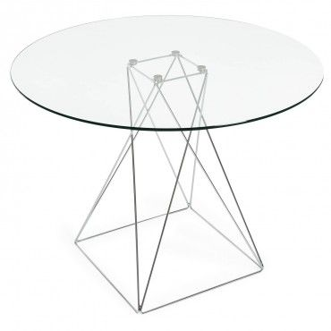 Candid Glass Round Dining Table   table dining   Pinterest   Glass ...