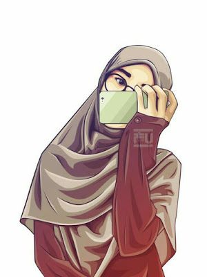 خلفيات بنات محجبات كرتون Hijab Cartoon Islamic Cartoon Girls Cartoon Art