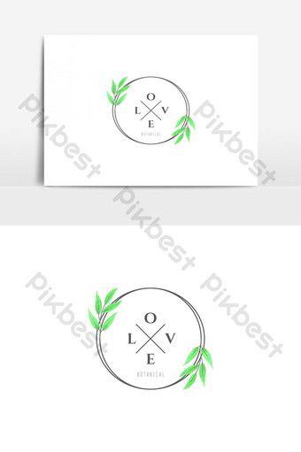 Love Botanical Logo Vector Graphic Element Png Images Ai Free Download Pikbest Vector Logo Horse Logo Design Flyer Design Templates