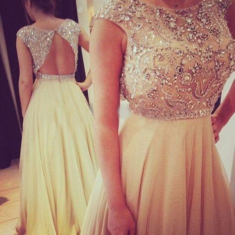 New Arrival Custom Made A-line Crystal Prom Dresses,Chiffon Prom Dress,Sexy Evening Dress,Long Prom Dress