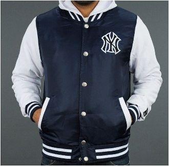 $24.95 Men's Navy NY Hooded Letterman Jacket at Sears | Group ...