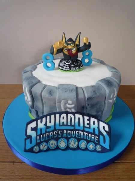 Marvelous Skylanders Birthday Cake Funny Birthday Cards Online Inifofree Goldxyz