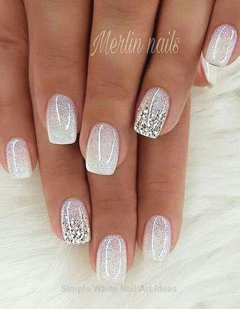 30 Simple Trending White Nail Design Ideas Whitenail Nails Popular Nail Designs Nail Designs