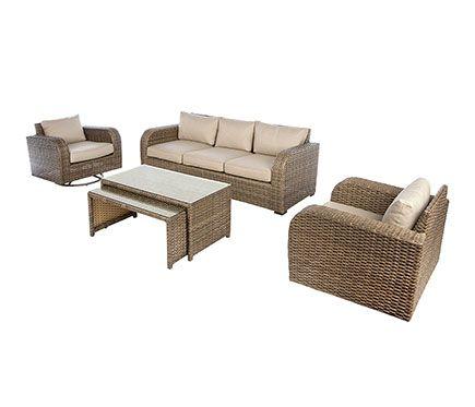 Conjunto De Muebles De Exterior Para Jardin O Terraza Compuesto