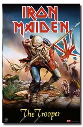 Iron Maiden Poster The Trooper Rare Hot New 24x36 Iron Maiden Posters Iron Maiden Albums Iron Maiden The Trooper