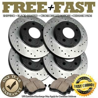 2008-2009 Jetta Rear HartBrakes Replacement Brake Rotors Disc and Ceramic Pads