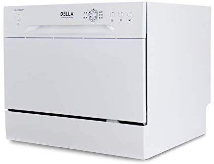 Amazon Com Della Mini Compact Countertop Dishwasher 6 Place Settings Portable For Small Apartment Home Kitchen White Appliances Mini Cuisine Mini Cuisine