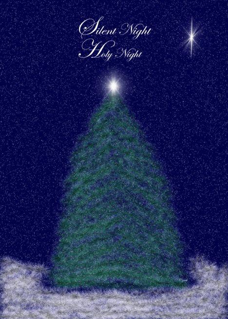 Merry Christmas Christmas Tree Silent Night Card Ad Sponsored Tree Christmas Merry Card Feliz Navidad Feliz Silent Night