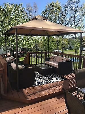 Yardistry 12 X 14 Cedar Gazebo With Aluminum Roof 1 799 99 Picclick Patio Gazebo Outdoor Gazebos Gazebo