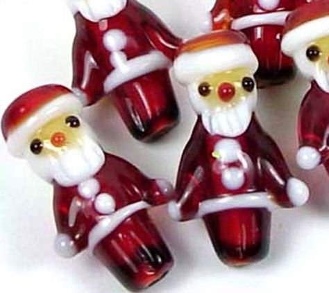 30Pcs 15x12mm Christmas Tree Lampwork Glass Loose Spacer Charms Beads Findings