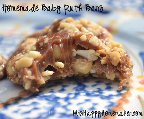 Homemade Baby Ruth Bars - Only 5 Ingredients