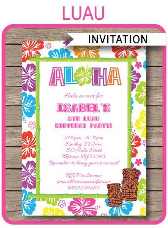 Free Printable Luau Invitations For Kids Sophieu0027s Party Ideas - fresh birthday invitation baby girl