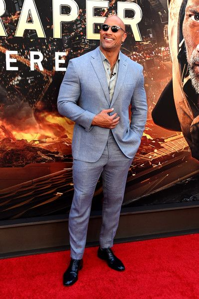 "Dwayne Johnson attends the ""Skyscraper"" New York Premiere at AMC Loews Lincoln Square on July 10, 2018 in New York City."