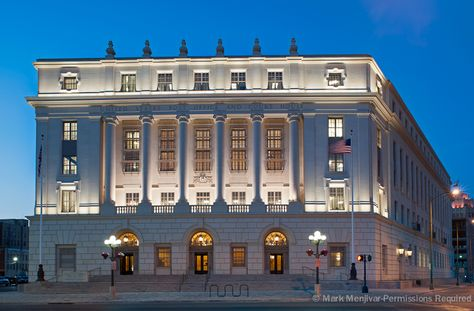 A skillful example of Beaux-Arts classicism, the U.S. Post Office and Courthouse is indicative of the federal government's goal of expressing democratic ideals through classically derived architecture featuring grand scale, symmetry, and refined details.   Significant events: In 2000, the building is listed in the National Register of Historic Places and in 2012, the modernization earns the building a  LEED Platinum certification.