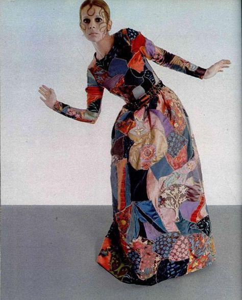 1969 - Yves Saint Laurent patchwork dress