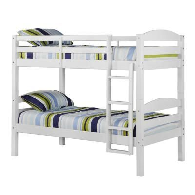 Walker Edison Furniture Company Solid Wood Twin Over Twin Bunk Bed