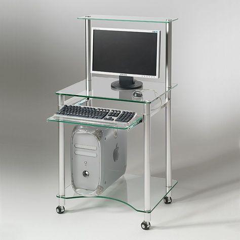 Scrivania Porta Pc In Vetro.Scrivania Porta Pc In Vetro Compact 60 X 50 Cm Compact E Una
