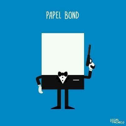 Bond, Papel Bond :)    crackle.com.br