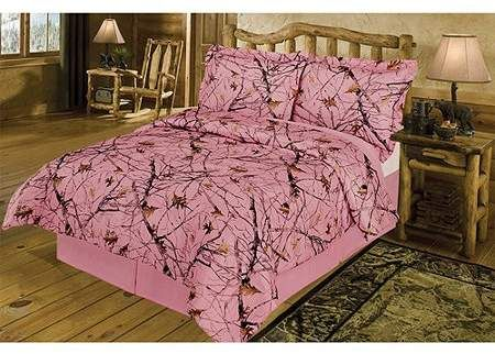 True Timber Bedding Snowfall Pink Comforter Set Pink Comforter