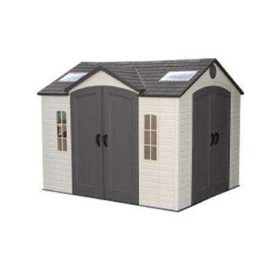 10 Ft X 8 Ft High Density Polyethylene Hdpe Shed Outdoor Storage Sheds Shed Storage Plastic Sheds