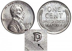 B 1943 D Lincoln Wheat Cent Penny Steel Cent Boldy Doubled Mintmark Steel Penny Rare Coins Worth Money Valuable Pennies