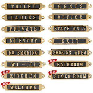 真鍮 サイン ドアプレート おしゃれ トイレ レトロ アンティーク調