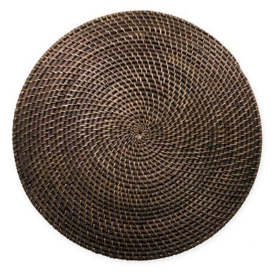 Natural Rattan Placemat In Walnut Placemats Brown Placemats Rattan