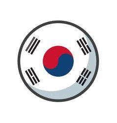 Isolated South Korea Flag Icon Block Design Vector In 2020 Flag Icon South Korea Flag Tech Logos