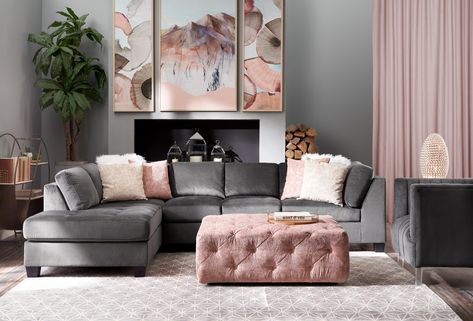 A comfortable and best-selling collection, the Mackenzie Sectional with Chaise will be a favorite in your home for years to come. Mackenzie Sectional Sofa with Left-Facing Chaise - Gray Living Room Seating, Living Room Grey, Home And Living, Gray Living Room Decor Ideas, Living Room Decor Ideas Apartment, Small Living, Living Rooms, Condo Living, 2 Piece Sectional Sofa