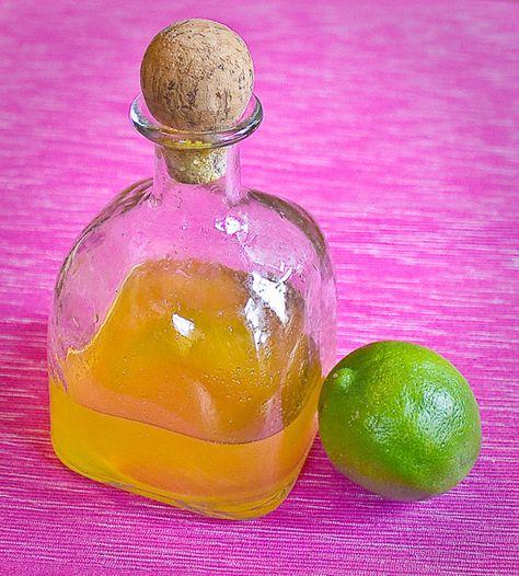 Homemade Mango Lime Soda Syrup