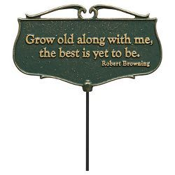 """17"""" Freestanding Signs - Green - Whitehall Products"""