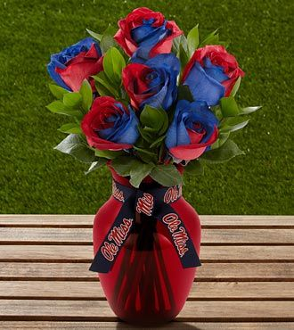 Ole Miss flowers - great Valentine's Day gift for a Rebel!