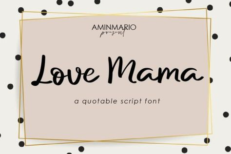 Love Mama (Font) by aminmario · Creative Fabrica
