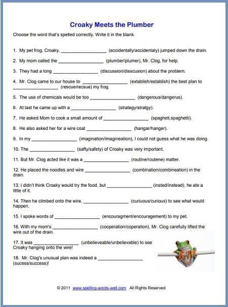 Free Printable Spelling Worksheets Spelling Worksheets Grade Spelling Spelling Words Free printable spelling worksheets for