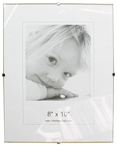 8 X 10 X 14inch Tempered Glass Frameless Clip Picture Frame For 8 X 10inch Prints Wallmounted Sold In S Frameless Picture Frames Clip Picture Frame Clip Frame