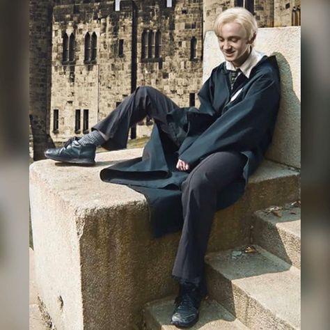Draco Harry Potter, Mundo Harry Potter, Harry Potter Characters, Fictional Characters, Draco Malfoy Aesthetic, Harry Potter Aesthetic, Slytherin Aesthetic, Tom Felton, Drarry