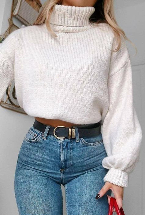30 Free Crochet Sweater Patterns New 2019 - Page 7 of 30 - womenselegance. com - 30 Free Crochet Sweater Patterns New 2019 – Page 7 of 30 – womenselegance. com 30 Free Crochet Sweater Patterns New 2019 – Page 7 of 30 – womenselegance. Edgy Outfits, Winter Fashion Outfits, Mode Outfits, Look Fashion, Autumn Fashion, Womens Fashion, Black Outfits, Fashion 2020, Fashion Trends