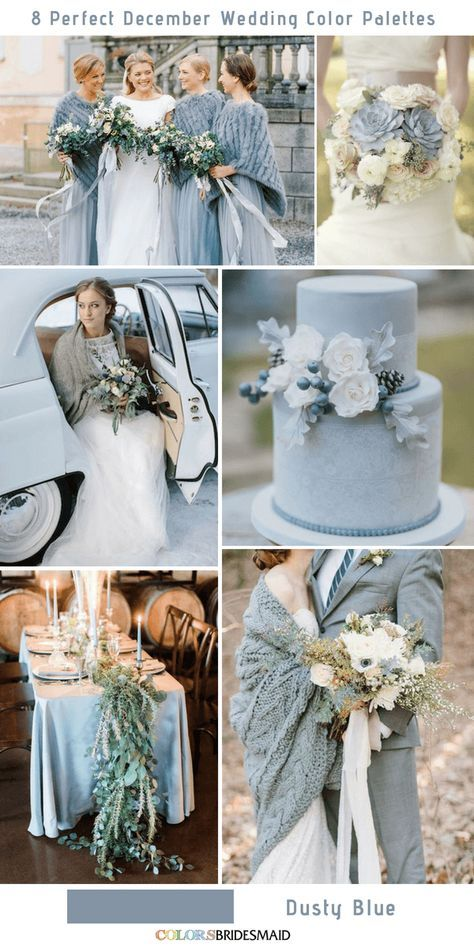 8 Perfect December Wedding Color Palettes Ideas Dusty Blue – color of life