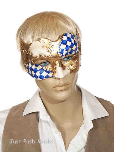 Joker Masks with Diamond Check Pattern Joker Scacchi