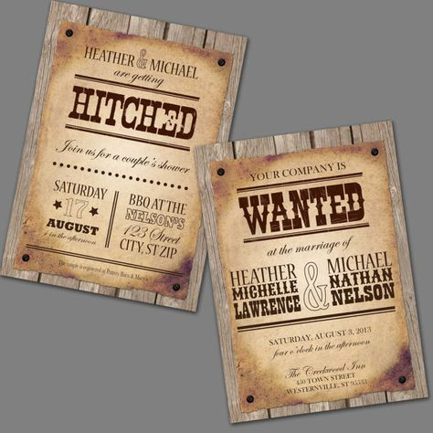 Wanted Poster Printable Wedding Invitations \ Reply Cards - printable wanted posters
