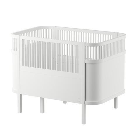 Sebra Babybett Kinderbett Mitwachsend Hohenverstellbar Ab Geburt Bis 6 Jahre In Weiss Babybett Kinderbett Juniorbett