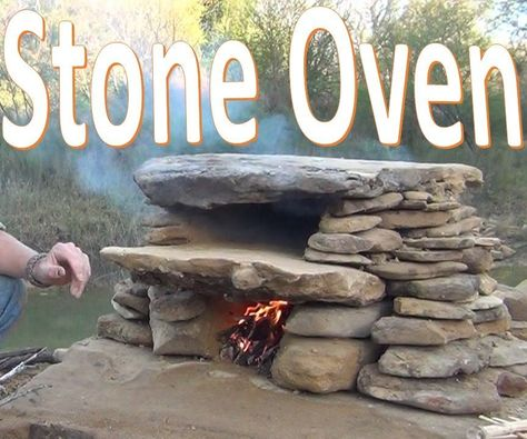 Stone Oven -How to Build / Use Primitive Cooking Technology- Uncategorized build bushcraft camping campsite Cooking Oven Primitive Stone technology