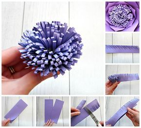Paper Flower Centers 5 Ways To Make Centers For Giant Flowers Large Paper Flowers Diy Giant Paper Flowers Template Giant Paper Flowers Diy