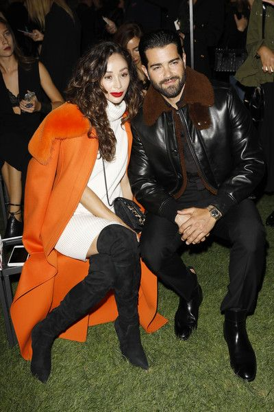 Cara Santana and Jesse Metcalfe attend the Salvatore Ferragamo show during Milan Fashion Week Spring/Summer 2018.
