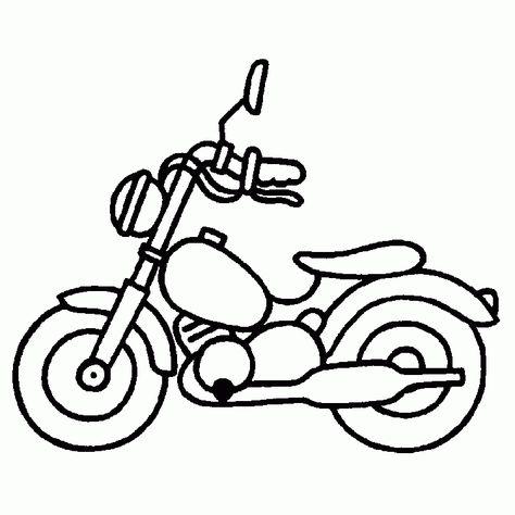 Auto Motorrad 4 Ausmalbilder