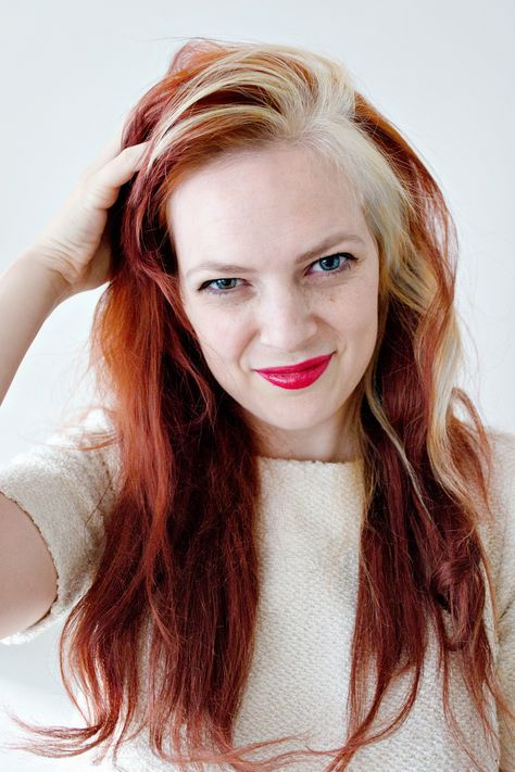 Hair Dyed Streaks Blondes 24 New Ideas White Streak In Hair Red
